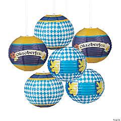 Oktoberfest Hanging Paper Lanterns
