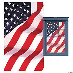 Old Glory WOWindow Poster Window Cling