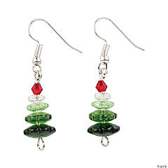 Ombre Christmas Tree Earrings Craft Kit