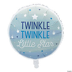 One Little Star Boy Mylar Balloon