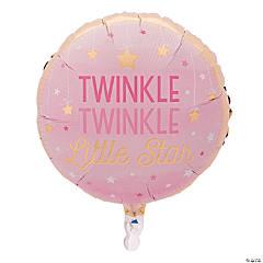 One Little Star Girl Mylar Balloon