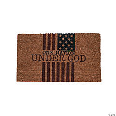 One Nation Under God Coir Doormat