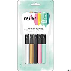 Opaque Medium Tip Markers 5/Pkg