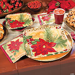 Opulent Poinsettia Party Supplies