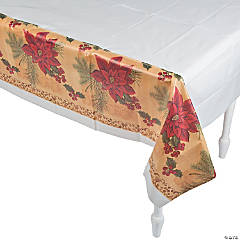 Opulent Poinsettia Tablecloth