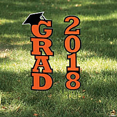 Orange 2018 Grad Yard Sign