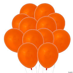 "Orange 9"" Latex Balloons"