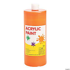 Orange Acrylic Paint
