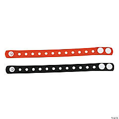 Orange & Black Snap Bracelets