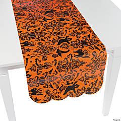 Orange & Black Table Runner