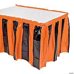 Orange & Black Table Skirt