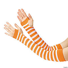Orange & White Team Spirit Arm Sleeves