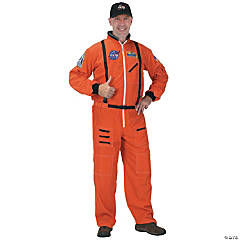 Orange Astronaut Suit Large Adult Men's Costume