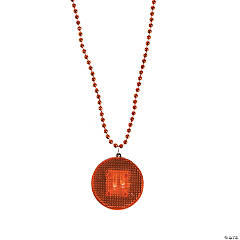 Orange Beaded Light-Up Necklaces