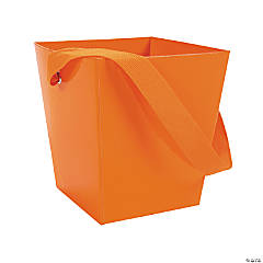 Orange Candy Buckets with Ribbon Handle