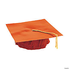 Orange Cardboard Graduation Caps
