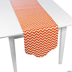 Orange Chevron & Polka Dot Table Runner