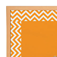 Orange Chevron Bulletin Board Borders