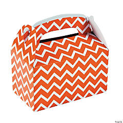 Orange Chevron Favor Boxes