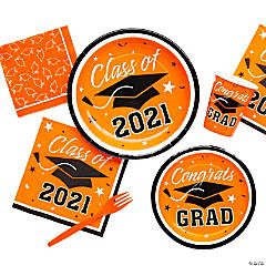 Orange Class of 2016 Graduation Party Supplies