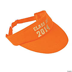 "Orange ""Class of 2014"" Graduation Visors"