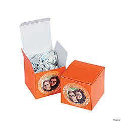 Orange Custom Photo Gift Boxes