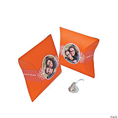 Orange Custom Photo Pillow Boxes