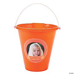 Orange Custom Photo Sand Buckets