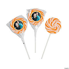 Orange Custom Photo Swirl Pops