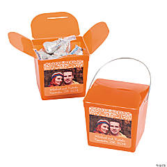 Orange Custom Photo Take Out Boxes