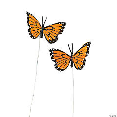 Orange Feather Butterflies