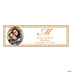 Orange Flourish Small Custom Photo Banner