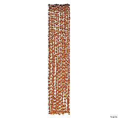 Orange Football Bead Necklaces