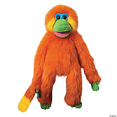 Orange Funky Monkey Plush Puppet