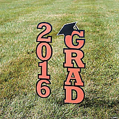 2016 Orange Grad Yard Sign