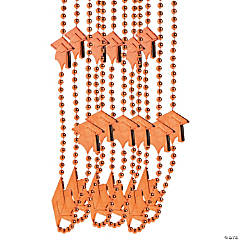 Orange Graduation Bead Necklaces