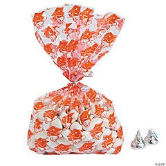 Orange Graduation Cellophane Bags