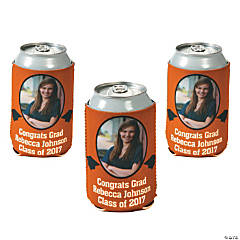 Orange Graduation Custom Photo Can Covers