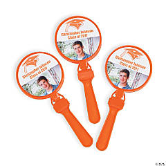 Orange Graduation Custom Photo Clappers