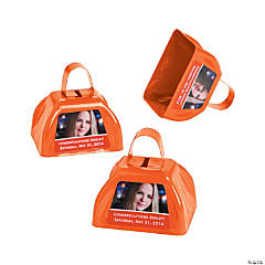Orange Graduation Custom Photo Cowbells