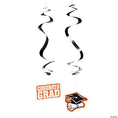 Orange Graduation Hanging Swirls Mega Pack
