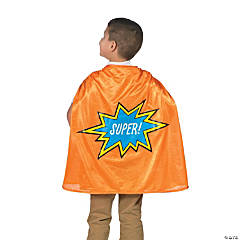 Orange Graduation Superhero Cape