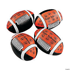 Orange Halloween Footballs