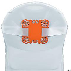 Orange Laser-Cut Chair Decorations