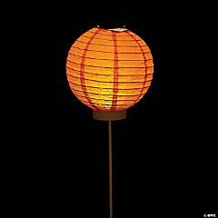 Orange Light-Up Paper Lantern Balloons