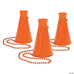 Orange Megaphone Bead Necklaces