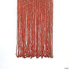 Orange Metallic Bead Necklaces