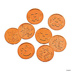 Orange Metallic Coins