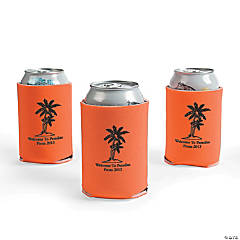 Orange Personalized Luau Can Covers