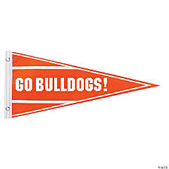 Orange Personalized Pennant Banner